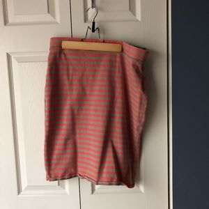 Striped Pencil Skirt Stretchy Old Navy Large